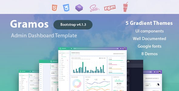 Gramos - Responsive Admin Dashboard Template nulled theme download
