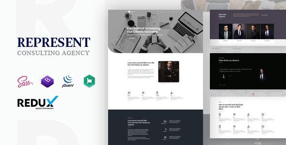 Represent - Consulting Finance WordPress - Business Corporate