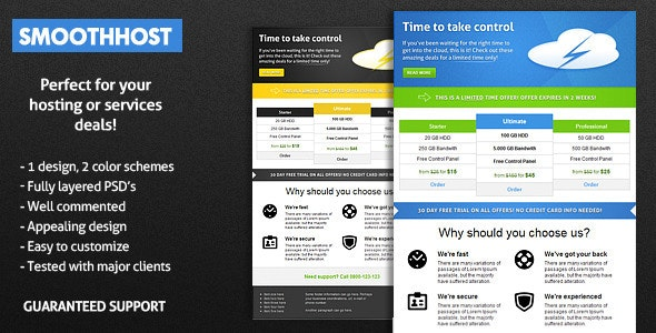 SmoothHost E-mail Template - Email Templates Marketing
