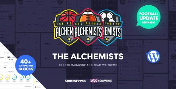 Alchemists - Sports Club and News WordPress Theme by dan_fisher