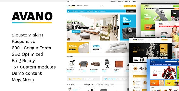 Avano - Premium React Ecommerce Template - Shopping Retail