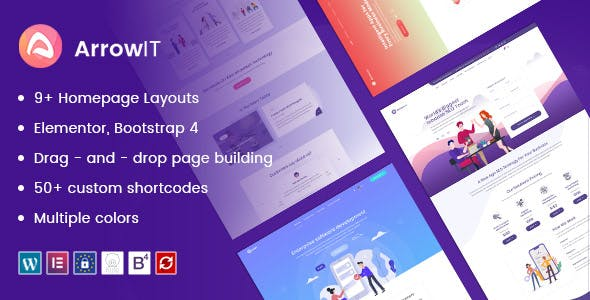 ArrowIT - Technology, Digital Transformation WordPress Theme nulled theme download
