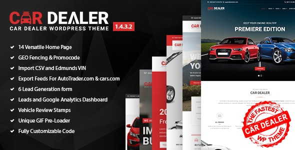 Car Dealer - Automotive Responsive WordPress Theme by