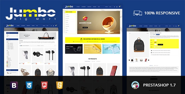 Jumbo - Big Mart Prestashop Theme - Fashion PrestaShop