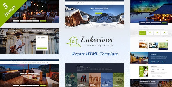 Lakecious : Resort and Hotel HTML Template - Travel Retail