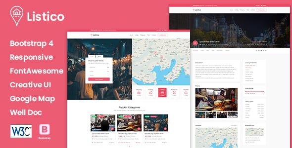 Listico - Listing & Directory HTML Template nulled theme download