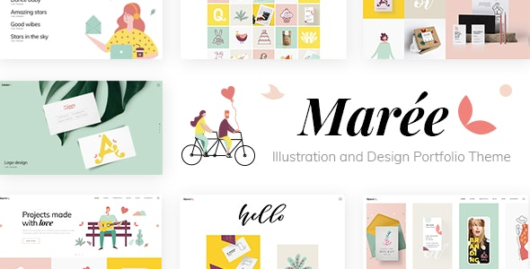 Marée - Illustration and Design Portfolio Theme - Portfolio Creative