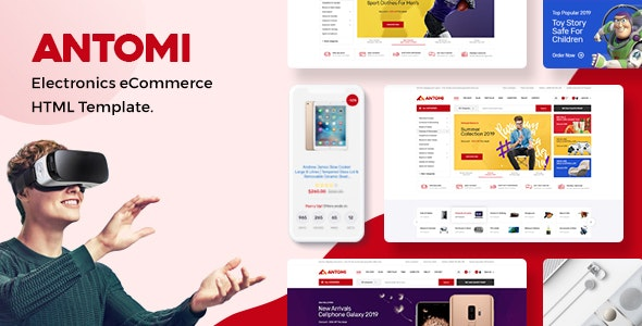 Antomi - Electronics eCommerce HTML Template by HasTech