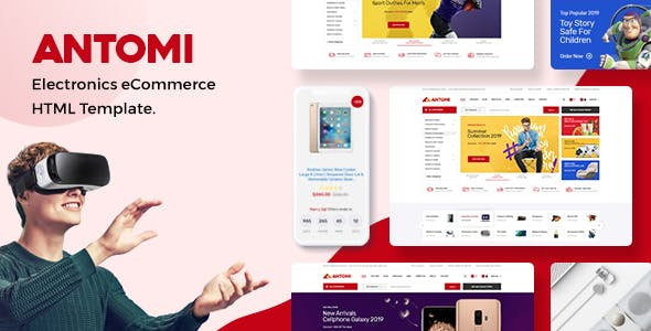 Antomi - Electronics eCommerce HTML Template nulled theme download