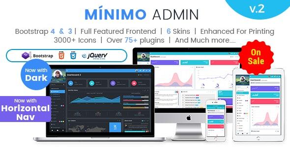 Minimo Pro - Responsive Bootstrap 4 & 3 Admin Dashboard Template - Admin Templates Site Templates