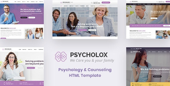Psycholox : Psychology & Counselling HTML Template - Health & Beauty Retail