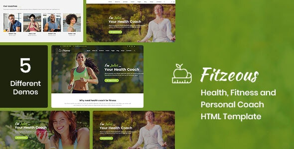 Fitzeous - Health, Fitness, Personal Coach HTML Template - Health & Beauty Retail