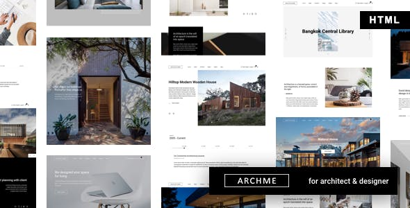 Archme - Interior Design and Architecture HTML nulled theme download
