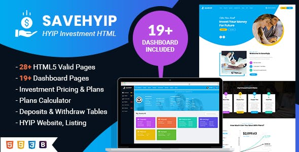 SaveHyip   Investment HTML5 Template nulled theme download