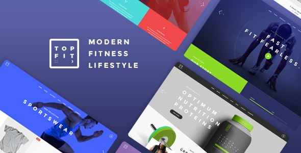 TopFit - Fitness and Gym Theme - Health & Beauty Retail
