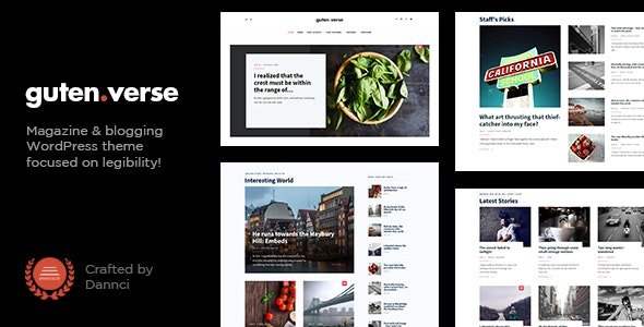 GutenVerse - Magazine and Blog Theme - News / Editorial Blog / Magazine