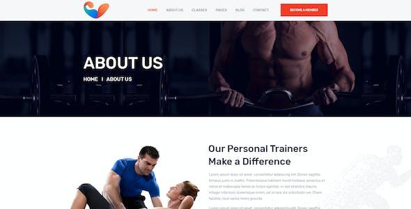 Shokti - Fitness and Gym PSD Template