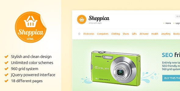 Shoppica - Premium HTML E-commerce Theme