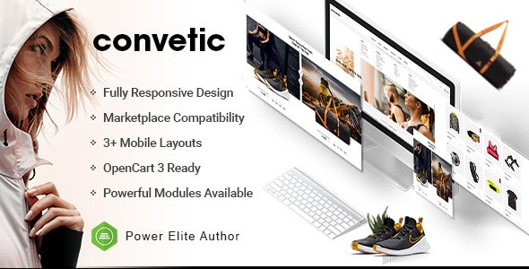 Convetic - Responsive Sport & Gym OpenCart 3 Theme - OpenCart eCommerce