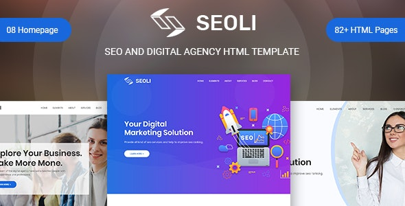 Seoli - SEO HTML Template - Marketing Corporate