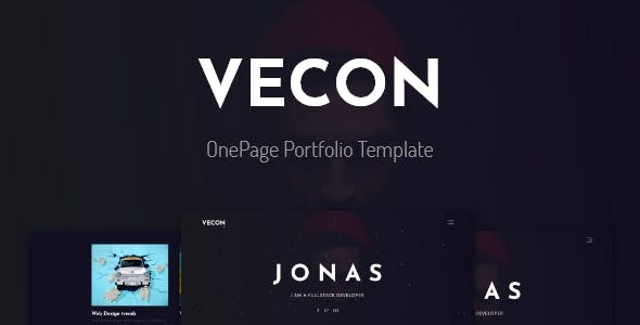 Vecon - Portfolio OnePage Template nulled theme download