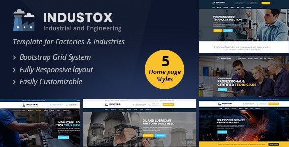 Industox - Industrial And Engineering HTML Template - Business Corporate