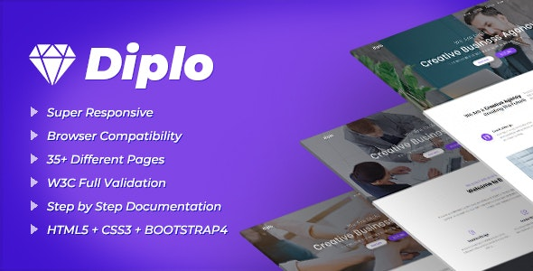 Diplo | Business Multi Page Template - Business Corporate
