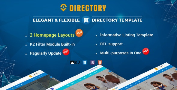 Directory - Responsive Ultimate Listing Joomla Template - Joomla CMS Themes