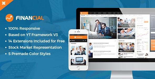 Financial III - Responsive Business Joomla Template - Blog / Magazine Joomla