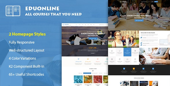 Eduonline - Education & University Joomla Template - Corporate Joomla