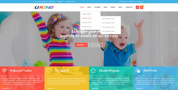 Download free dd kids joomla template.