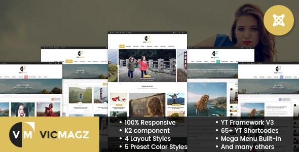 VicMagz - Multipurpose News/Magazine Joomla Template - Blog / Magazine Joomla