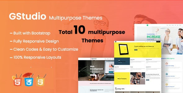 G Studio - Multipurpose Responsive Website Template - Corporate Site Templates