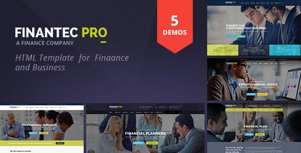 Finantec Pro : Finance and Business HTML Template
