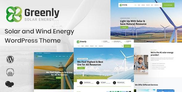 Greenly - Ecology & Solar Energy WordPress Theme - Technology WordPress