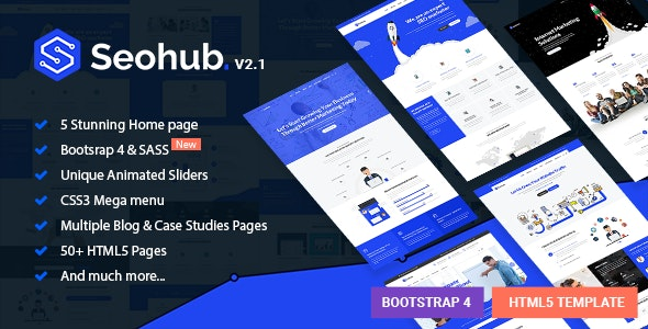 SEOhub - Digital Marketing Agency HTML5 Template - Marketing Corporate