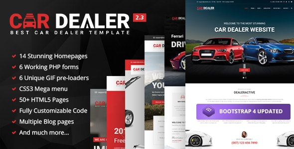Car Dealer - Automotive Responsive HTML5 Template - Business Corporate