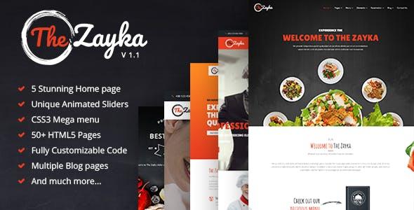 The Zayka - Multipurpose Restaurant & Cafe HTML5 Template