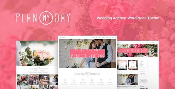 Plan My Day | Wedding / Event Planning Agency WordPress Theme - Wedding WordPress