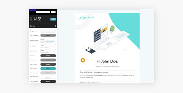 Leo Postmail Professional Email Template for any E-commerce PrestaShop