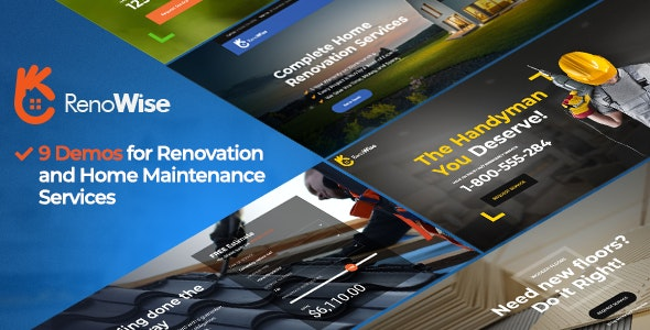 RenoWise - Construction & Building Theme - Business Corporate