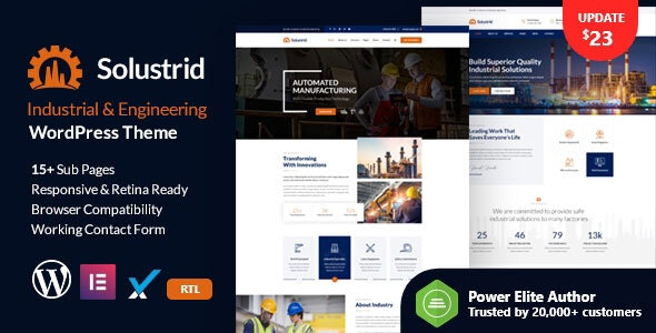 Solustrid - Factory & Industrial Business WordPress Theme - Business Corporate