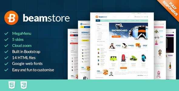 BeamStore - Premium React Ecommerce Template - Shopping Retail