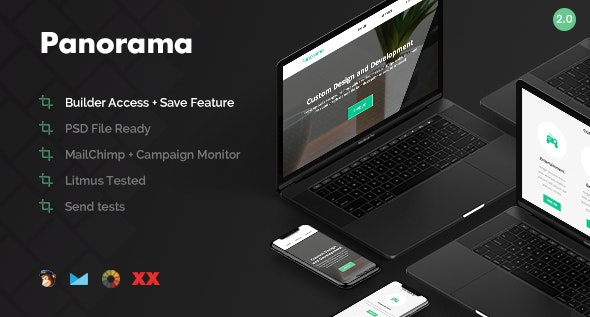 Panorama - Responsive Email + Online Builder - Email Templates Marketing