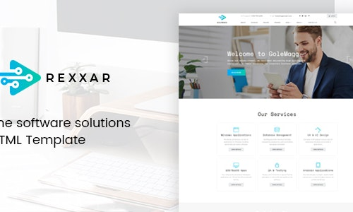 Rexxar - The software solutions HTML Template