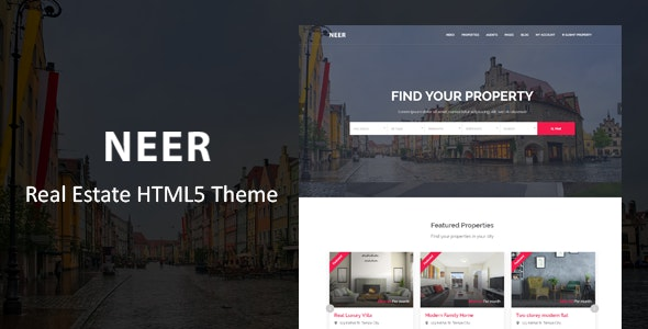 Neer - Real Estate HTML Template - Business Corporate
