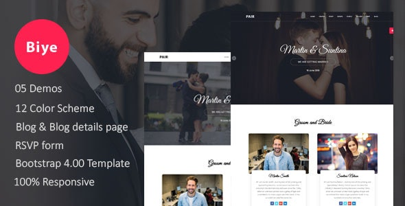Biye - Wedding HTML5 Template - Wedding Site Templates