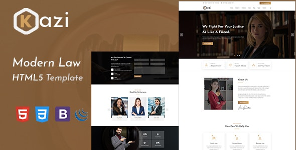Kazi – Lawyers Attorneys and Law Firm HTML5 Template - Business Corporate