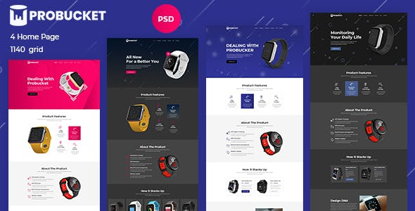 Probucket - Product Landing Page nulled theme download