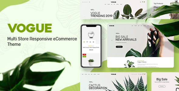 Vogue - Plant Store Opencart Theme nulled theme download